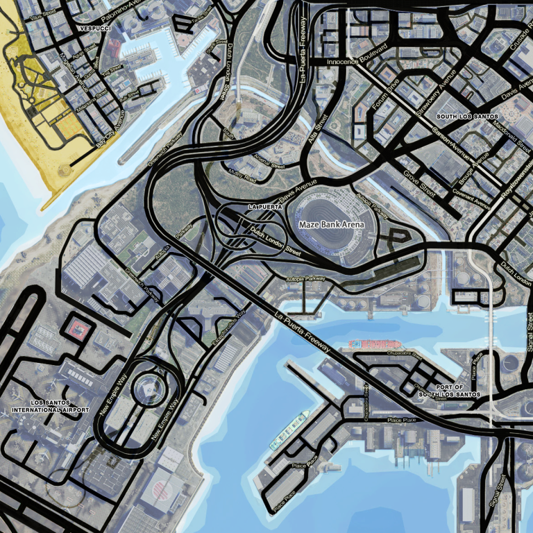 GTA V Mod Map Street Names – DieLikeKane